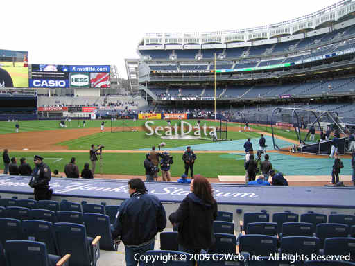 Seat view from section 23 at Yankee Stadium, home of the New York Yankees