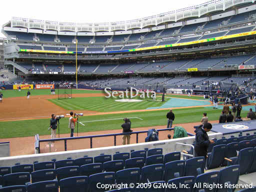 Seat view from section 25 at Yankee Stadium, home of the New York Yankees