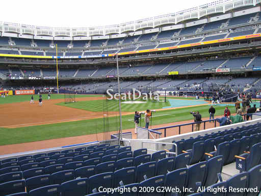 Seat view from section 26 at Yankee Stadium, home of the New York Yankees