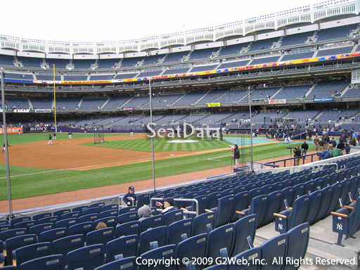 Seat view from section 27A at Yankee Stadium, home of the New York Yankees