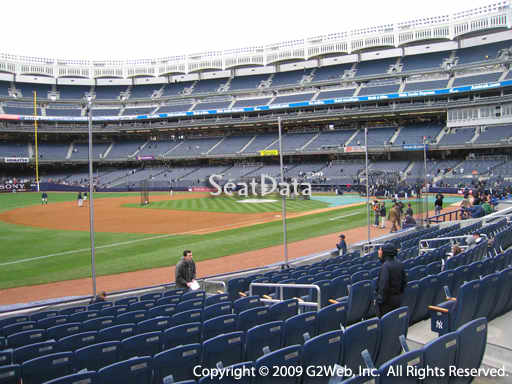 Seat view from section 27B at Yankee Stadium, home of the New York Yankees