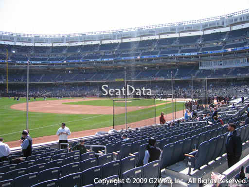 Seat view from section 28 at Yankee Stadium, home of the New York Yankees