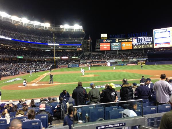 View from Field MVP Seats at Yankee Stadium