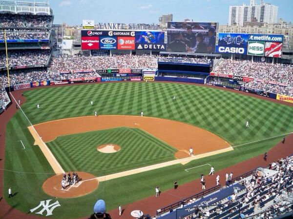 View from the Terrace Seats at Yankee Stadium