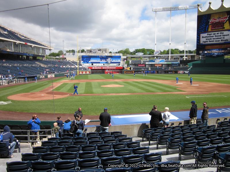 Seat view from section 132 at Kauffman Stadium, home of the Kansas City Royals
