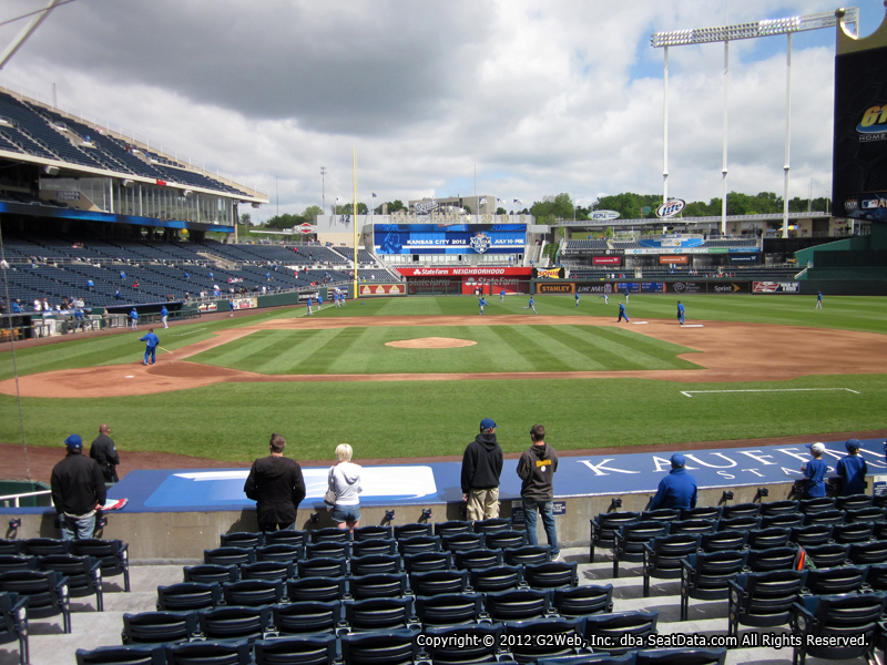 Seat view from section 133 at Kauffman Stadium, home of the Kansas City Royals