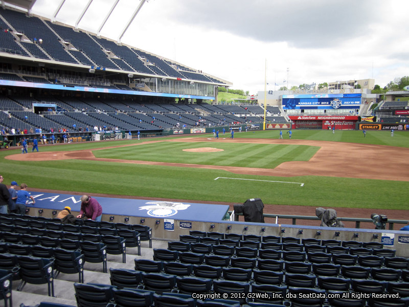 Seat view from section 136 at Kauffman Stadium, home of the Kansas City Royals