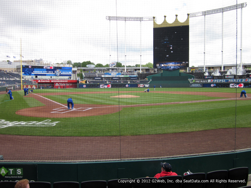 View from Crown Club Section 5 at Kauffman Stadium, home of the Kansas City Royals