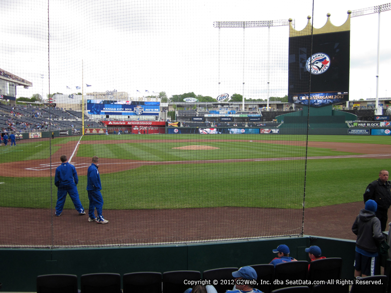 View from Crown Club Section 6 at Kauffman Stadium, home of the Kansas City Royals
