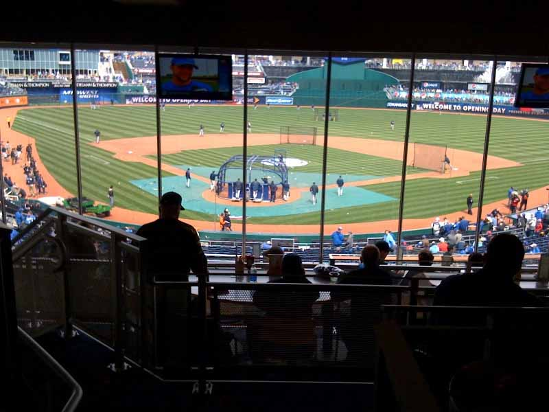 Seat view from Diamond Club Box E at Kauffman Stadium, home of the Kansas City Royals