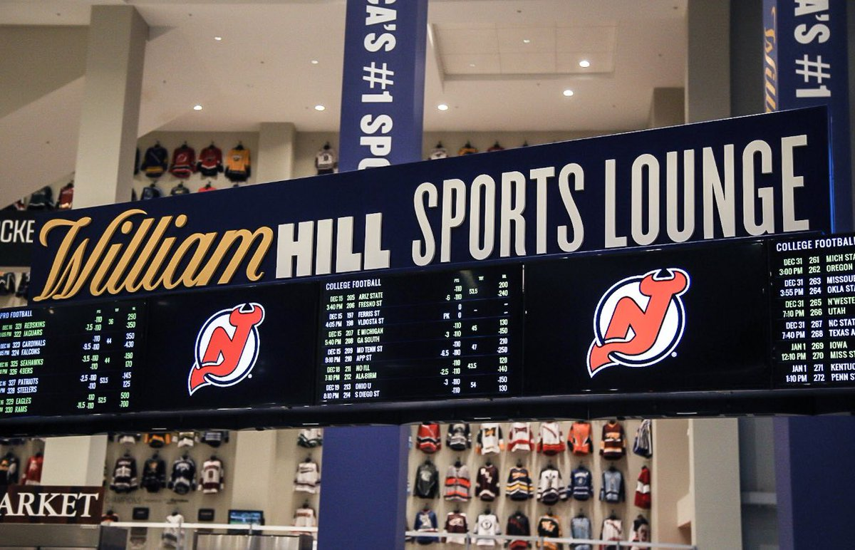 Photo of the William Hill Sports Lounge at the Prudential Center in Newark, New Jersey.