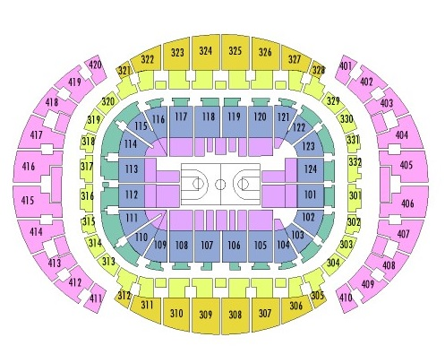 American Airlines Arena Seating Chart, Miami Heat