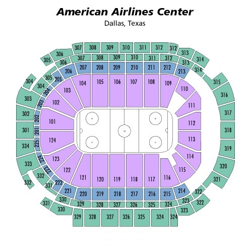 American Airlines Center Seating Chart, Dallas Stars