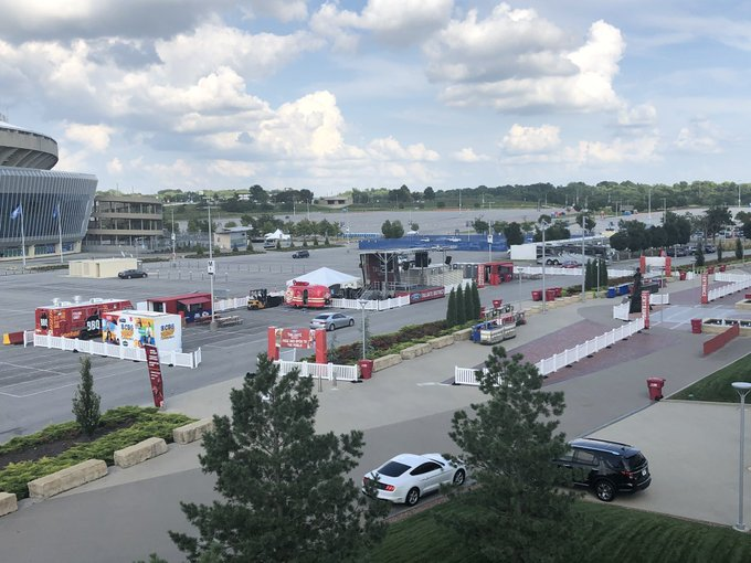 Photo of the Ford Tailgate District outside of Arrowhead Stadium, home of the Kansas City Chiefs.