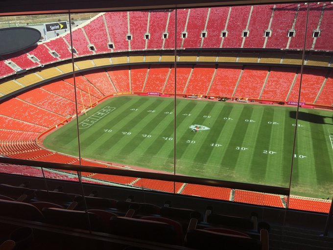 View from a suite at Arrowhead Stadium in Kansas City, Missouri.