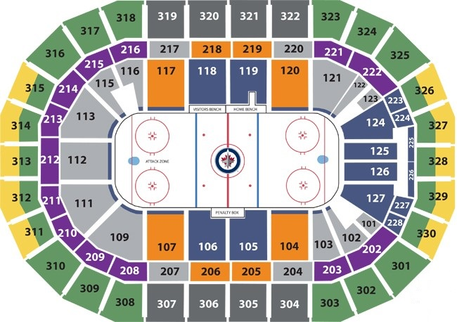 Bell MTS Place Seating Chart, Winnipeg Jets