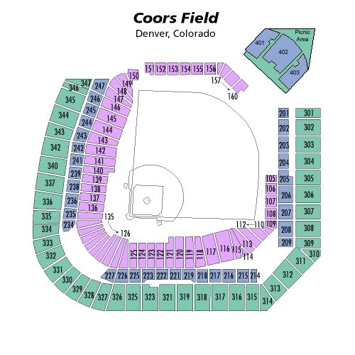 Coors Field Seating Chart, Colorado Rockies