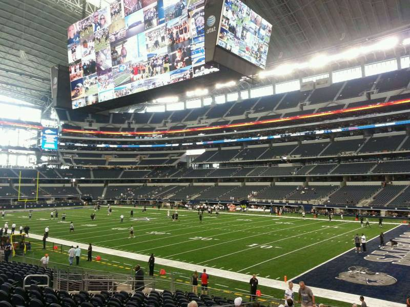 Seat view from section 103 at AT&T Stadium, home of the Dallas Cowboys