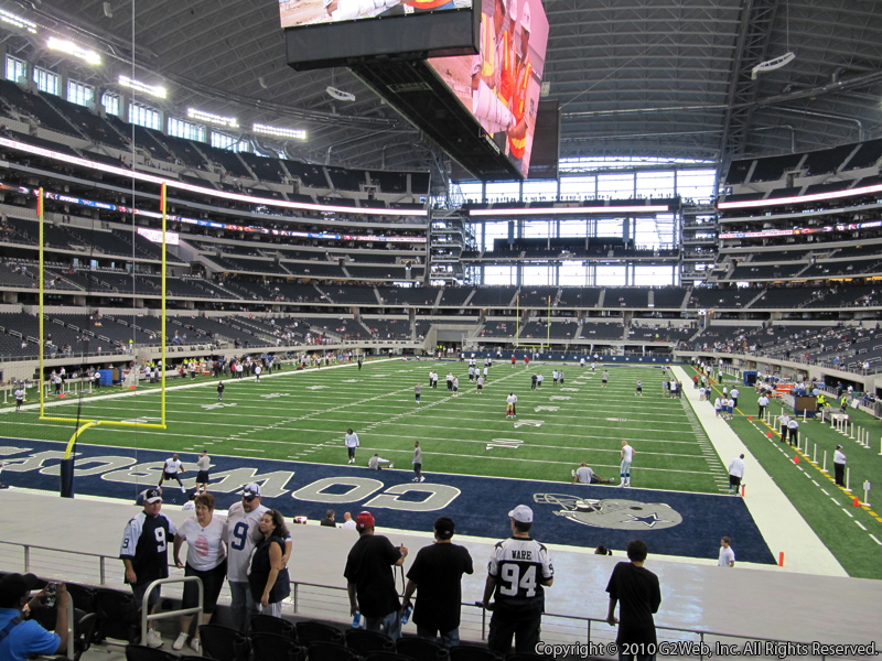 Seat view from section 121 at AT&T Stadium, home of the Dallas Cowboys