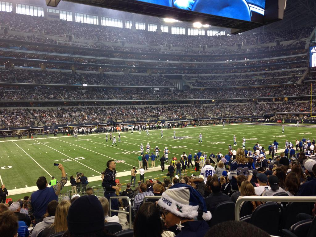 Seat view from section 139 at AT&T Stadium, home of the Dallas Cowboys