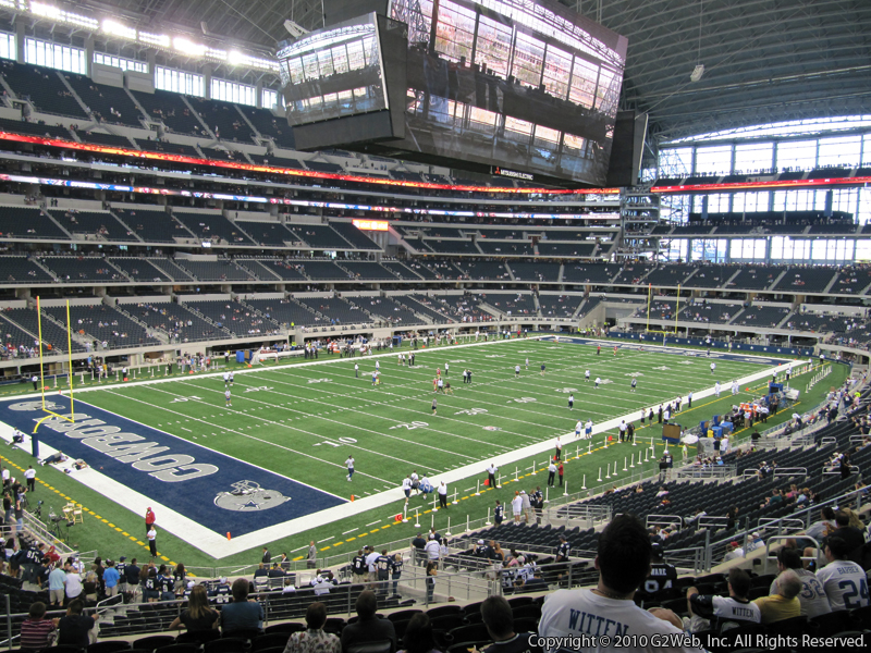 Seat view from section 217 at AT&T Stadium, home of the Dallas Cowboys