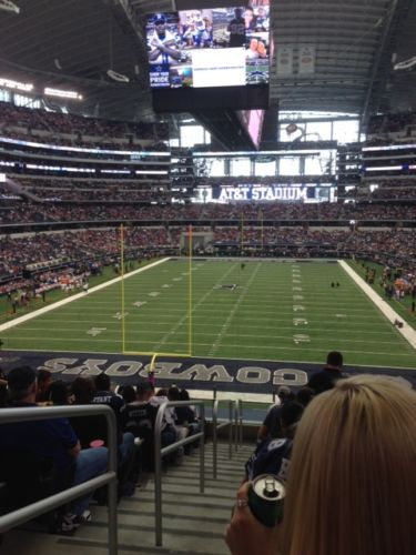 Seat view from section 221 at AT&T Stadium, home of the Dallas Cowboys