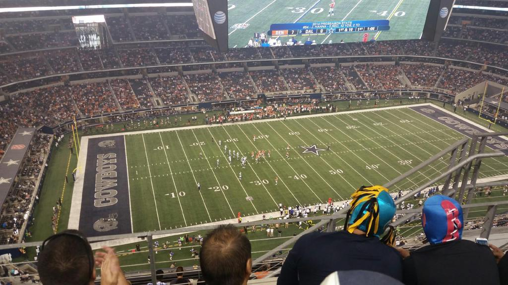 View from the Loge Seats at AT&T Stadium
