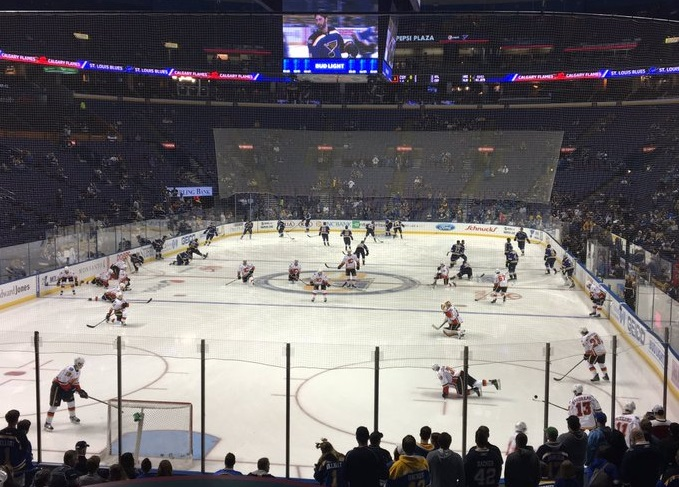 View from the McBride Homes Suite at the Enterprise Center during a St. Louis Blues game.