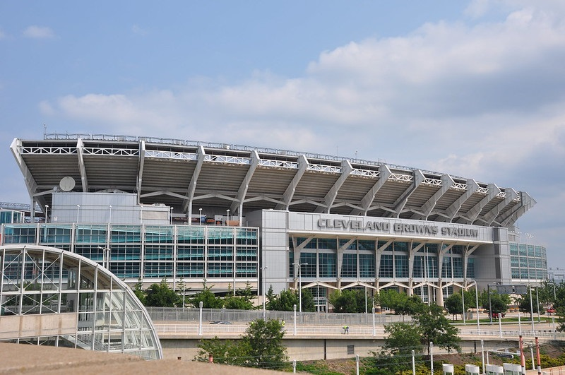 Exterior photo of FirstEnergy Stadium in Cleveland, Ohio. Home of the Cleveland Browns.