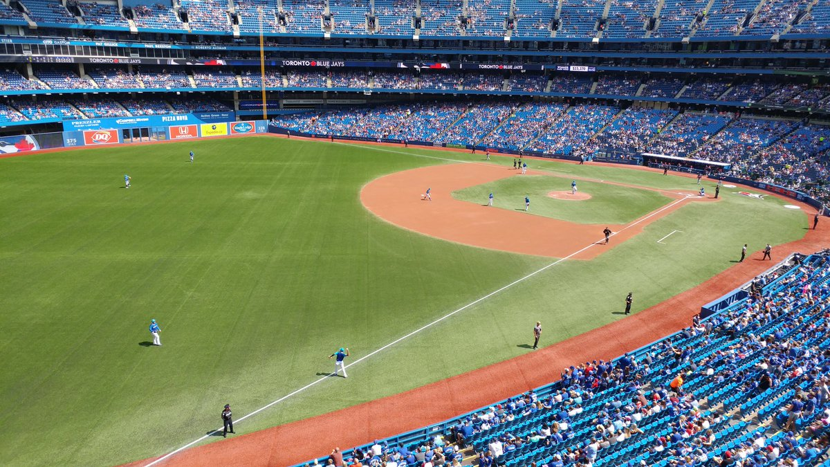 Photo of the Rogers Centre from the 200 level outfield seats. Home of the Toronto Blue Jays.