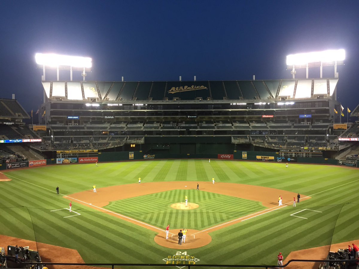 Photo of Oakland Coliseum, home of the Oakland Athletics.