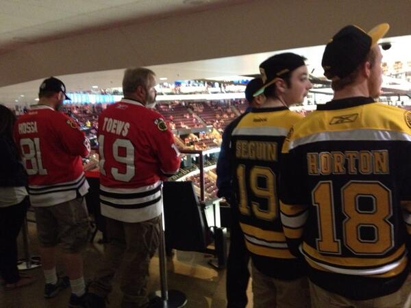 Standing Room Only Area at the United Center during a Chicago Blackhawks Game
