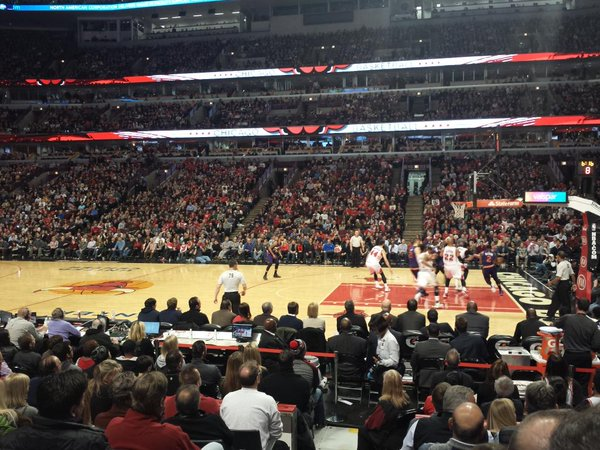 Lower Level Seats at the United Center during a Chicago Bulls Game