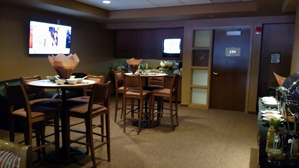 Interior photo of a suite at Gila River Arena in Glendale, Arizona.