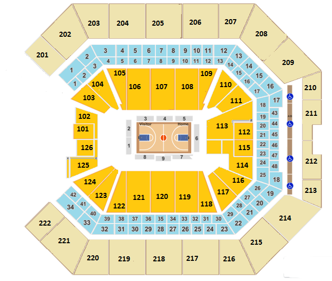 Golden 1 Center Seating Chart, Sacramento Kings