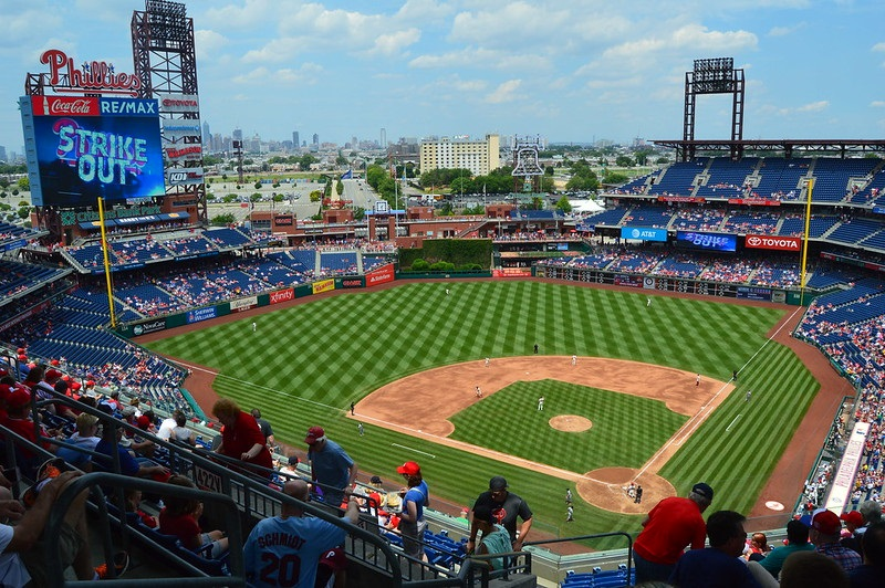 Photo of the field at Citizens Bank Park, home of the Philadelphia Phillies.