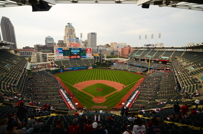 Photo of Progressive Field, home of the Cleveland Indians.
