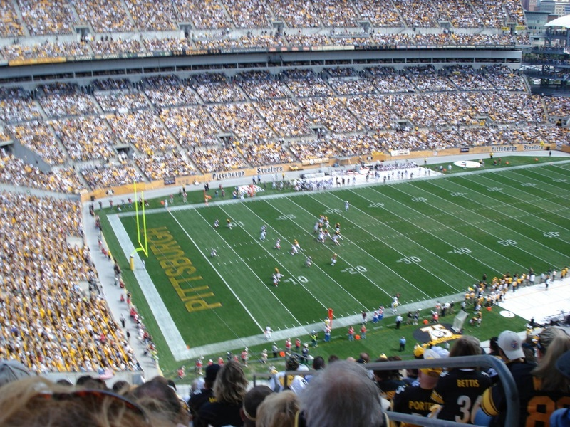 Photo of Heinz Field, home of the Pittsburgh Steelers.