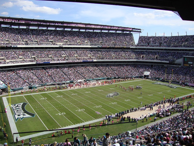 Photo of Lincoln Financial Field during a Philadelphia Eagles game.