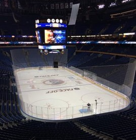 View from the suite level at the KeyBank Center, home of the Buffalo Sabres.