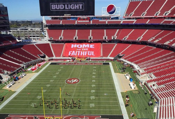 Photo taken from the Bud Light Patio at Levi's Stadium, home of the San Francisco 49ers.