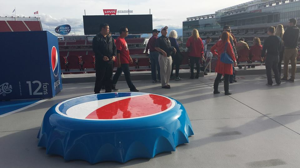 Photo of the Pepsi Fan Deck at Levi's Stadium, home of the San Francisco 49ers.