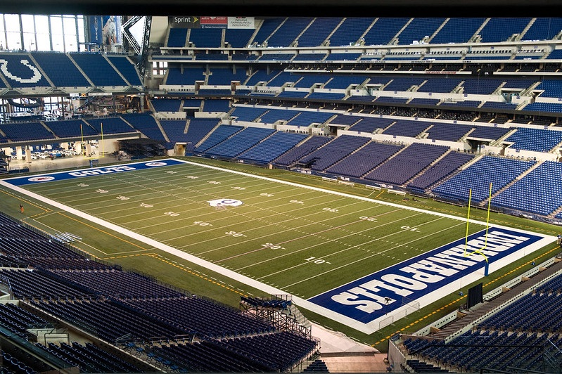Photo taken from the loge level seats at Lucas Oil Stadium. Home of the Indianapolis Colts.