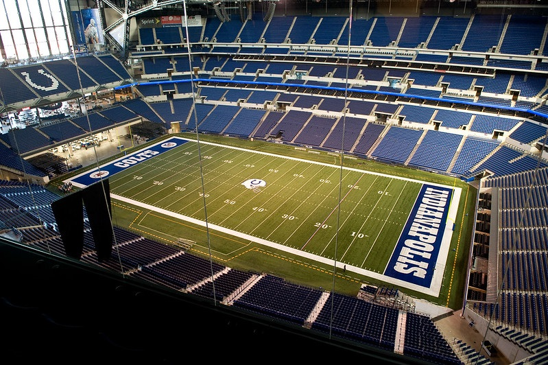 View from the luxury suites at Lucas Oil Stadium. Home of the Indianapolis Colts.