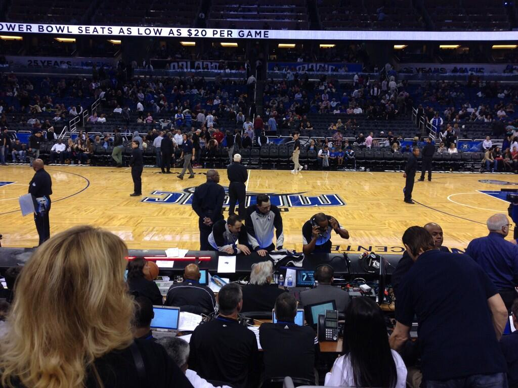Seat view from section 105 at the Amway Center, home of the Orlando Magic.