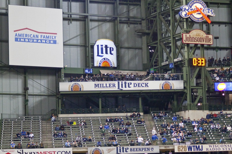 Photo of the Miller Lite Deck at Miller Park. Home of the Milwaukee Brewers.