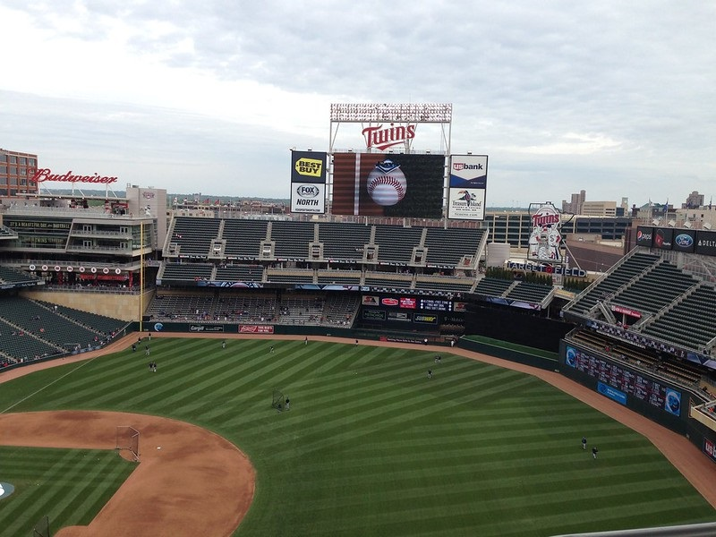 Photo of the center field area at Target Field. Home of the Minnesota Twins.