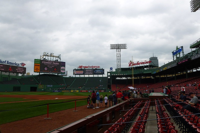 Photo of field level seating at Fenway Park. Home of the Boston Red Sox.