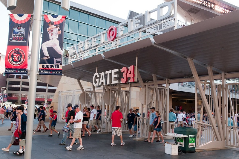 Photo of the Gate 34 entrance at Target Field. Home of the Minnesota Twins.
