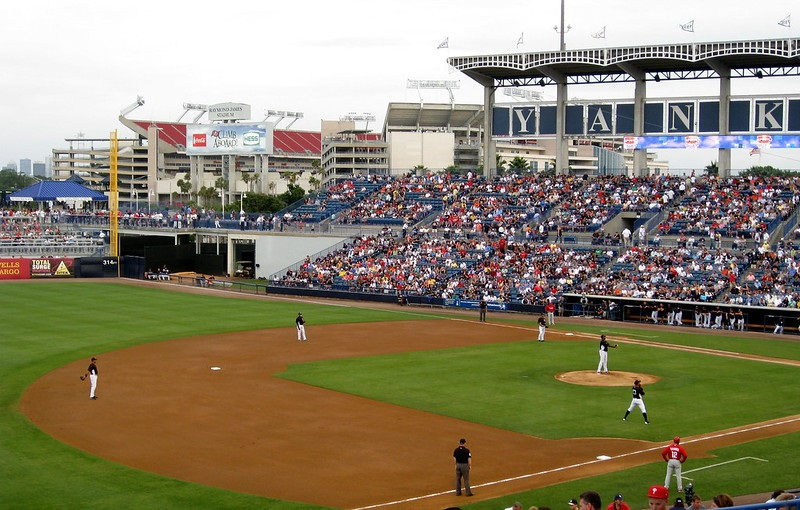 Photo of a New York Yankees game at Steinbrenner Field in Tampa, Florida.